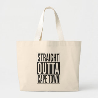 straight outta Cape Town Large Tote Bag