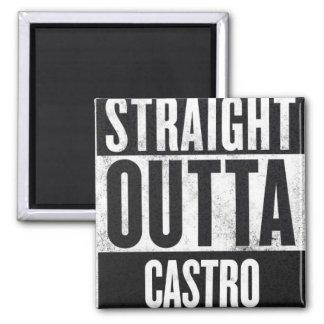 Straight Outta Castro square fridge magnet