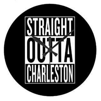 straight outta Charleston Large Clock