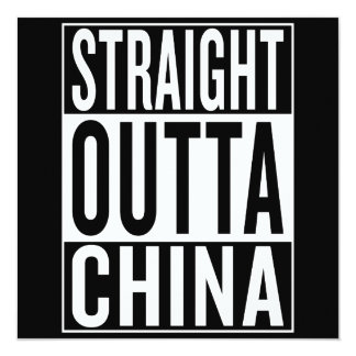 straight outta China Card