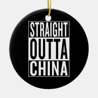 straight outta China Ceramic Ornament