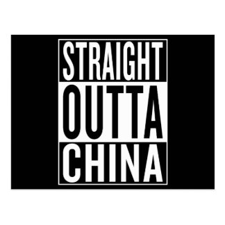 straight outta China Postcard