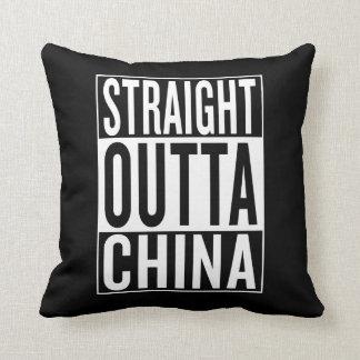 straight outta China Throw Pillow