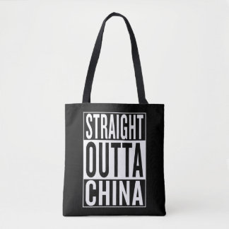 straight outta China Tote Bag
