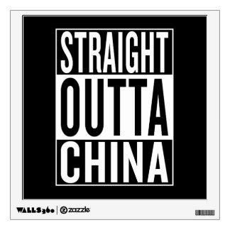 straight outta China Wall Sticker