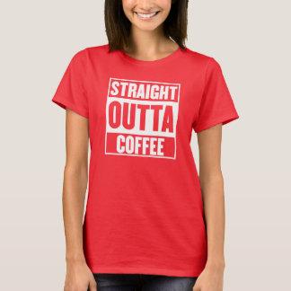 STRAIGHT OUTTA COFFEE WOMENS TSHIRT RED