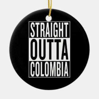 straight outta Colombia Ceramic Ornament