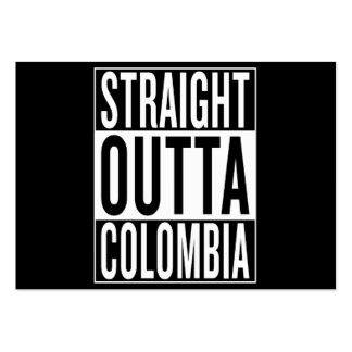 straight outta Colombia Large Business Card