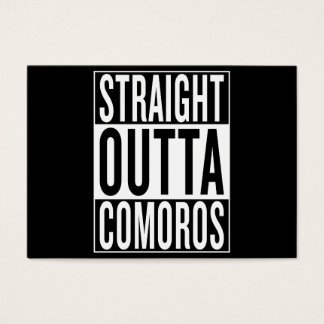 straight outta Comoros Business Card
