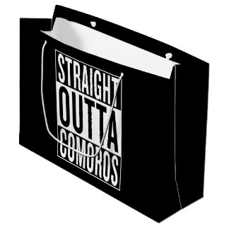 straight outta Comoros Large Gift Bag