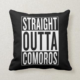 straight outta Comoros Throw Pillow