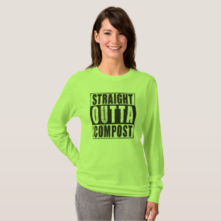 Straight Outta Compost Fun Womens Gardener T-shirt