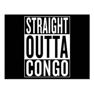 straight outta Congo Postcard