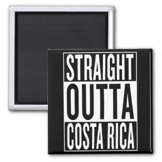 straight outta Costa Rica Magnet