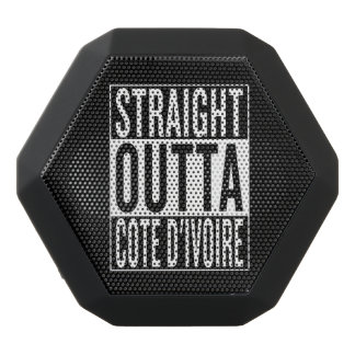 straight outta Cote d'Ivoire Black Bluetooth Speaker