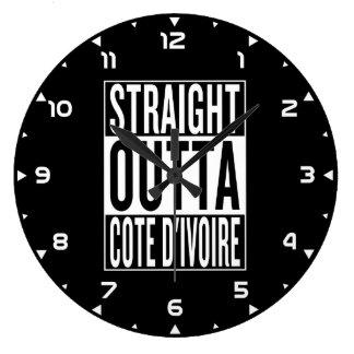 straight outta Cote d'Ivoire Large Clock