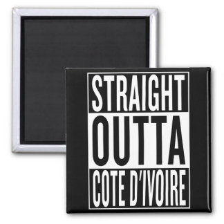 straight outta Cote d'Ivoire Magnet