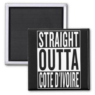 straight outta Cote d'Ivoire Square Magnet