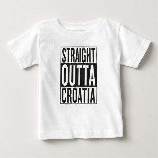 straight outta Croatia Baby T-Shirt