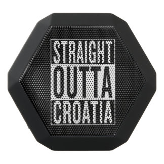 straight outta Croatia Black Bluetooth Speaker