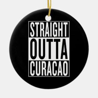 straight outta Curacao Ceramic Ornament