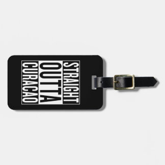 straight outta Curacao Luggage Tag
