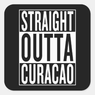 straight outta Curacao Square Sticker