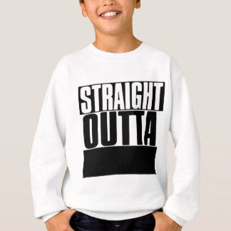 STRAIGHT OUTTA CUSTOM YOUR TEXT HERE TEE