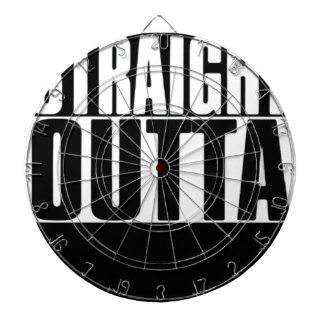 STRAIGHT OUTTA CUSTOM YOUR TEXT HERE TEE DARTBOARD