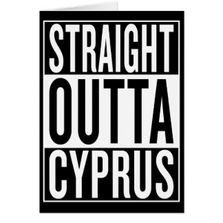straight outta Cyprus Card