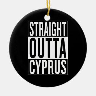 straight outta Cyprus Ceramic Ornament