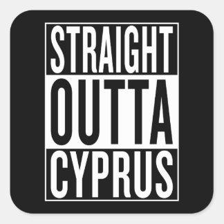 straight outta Cyprus Square Sticker