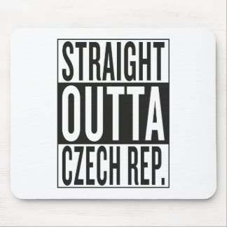 straight outta Czech Republic Mouse Pad