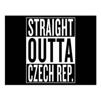 straight outta Czech Republic Postcard