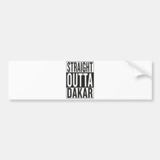 straight outta Dakar Bumper Sticker
