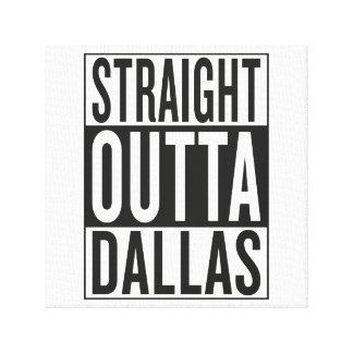 straight outta Dallas Canvas Print