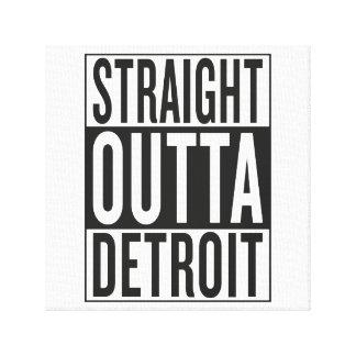 straight outta Detroit Canvas Print