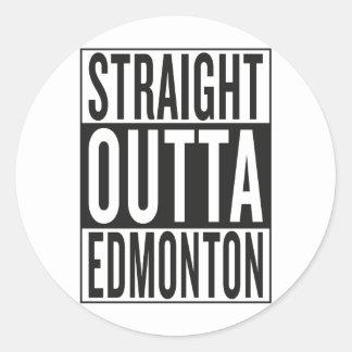 straight outta Edmonton Classic Round Sticker