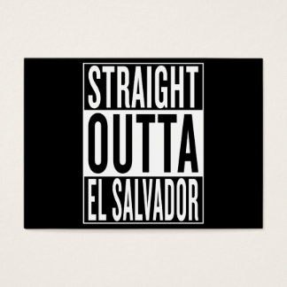 straight outta El Salvador Business Card