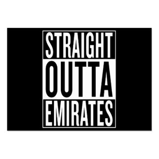 straight outta Emirates Large Business Card