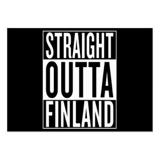 straight outta Finland Large Business Card