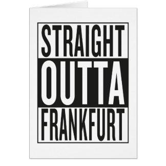 straight outta Frankfurt Card