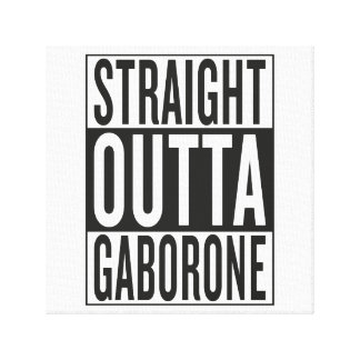 straight outta Gaborone Canvas Print
