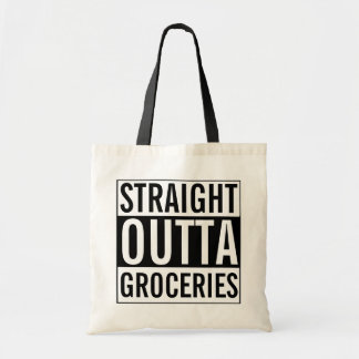 Straight Outta Groceries Funny Tote Bag