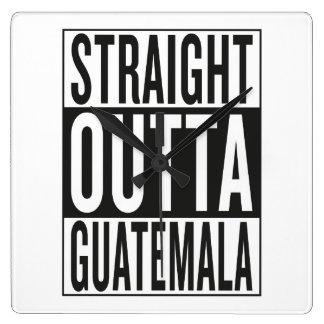 straight outta Guatemala Wall Clock