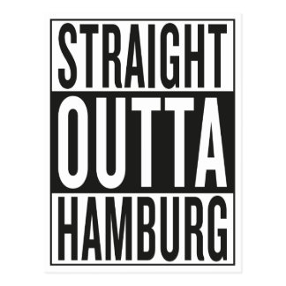 straight outta Hamburg Postcard