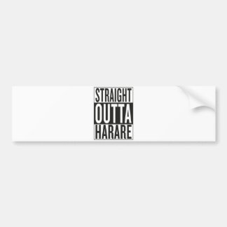 straight outta Harare Bumper Sticker