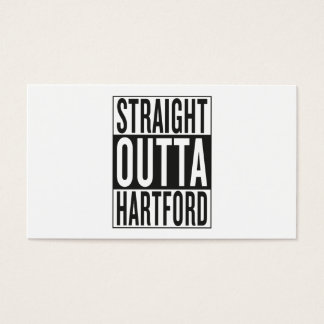 straight outta Hartford Business Card