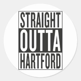 straight outta Hartford Classic Round Sticker