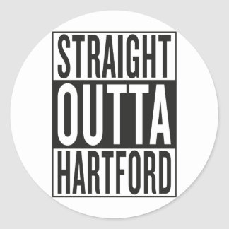 straight outta Hartford Round Sticker